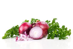 Red sliced onion Stock Photography