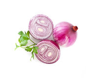 Red sliced onion Royalty Free Stock Image