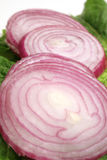 Red sliced onion Stock Photo