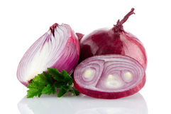 Red sliced onion Royalty Free Stock Photo