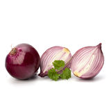Red sliced onion and fresh parsley still life Royalty Free Stock Photo
