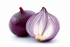 Red sliced onion Stock Images