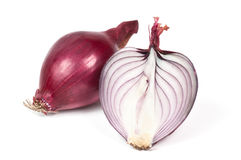 Red sliced onion Royalty Free Stock Photography