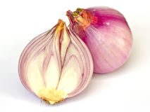 Red sliced onion Stock Image
