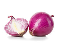 Red sliced onion isolated on white Stock Images