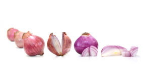 Red sliced onion isolated on white background Royalty Free Stock Image