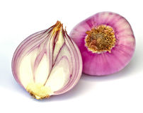 Red sliced onion Stock Photos