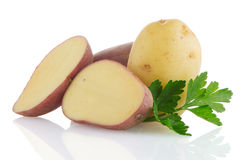 Red sliced potatoes Royalty Free Stock Photo