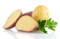 Red sliced potatoes Royalty Free Stock Image
