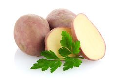 Red sliced potatoes Royalty Free Stock Images