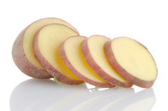 Red sliced potatoes Stock Image