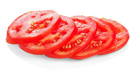 Red sliced tomato Royalty Free Stock Image