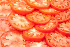 Red sliced tomatoes Stock Photography