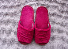 Red slipper Royalty Free Stock Photography