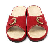 Red slippers Royalty Free Stock Images