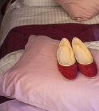 Red slippers Royalty Free Stock Photos