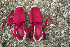 Red slippers Stock Photography