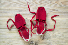Red slippers Royalty Free Stock Image