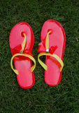 Red slippers Royalty Free Stock Photography
