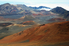 Red slope in Haleakala Stock Photos