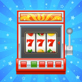 Red slot machine. Detailed illustration of a red slot machine Royalty Free Stock Photography