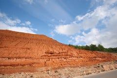 Red sludge, Iglesias (Sardinia - Italy) Royalty Free Stock Photography