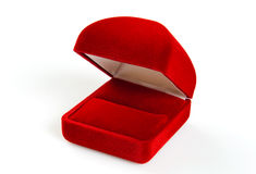 Red small box for expensive gifts. And decorations Stock Images