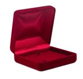 Red small box for expensive gifts and decorations. Isolated Stock Photos