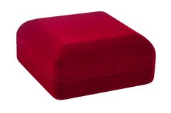 Red small box for expensive gifts and decorations. Isolated Stock Images