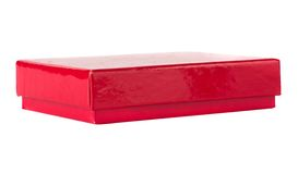 Red small box for expensive gifts and decorations Royalty Free Stock Image