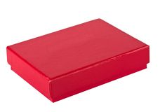 Red small box for expensive gifts and decorations Stock Photo