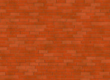 Red small brick hi-res wall pattern Stock Images