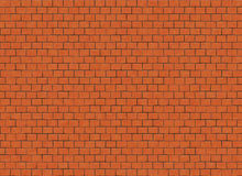 Red small brick hi-res wall pattern Stock Photos