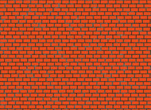 Red small brick hi-res wall pattern Royalty Free Stock Photo