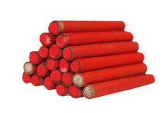 Red small firecrackers Stock Image