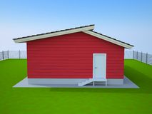 Red small house Royalty Free Stock Images