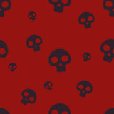 Red Small Skull Pattern Royalty Free Stock Image