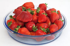 Red small strawberries in spring Royalty Free Stock Photography