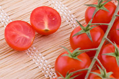 Red small tomatoes Stock Photo