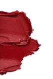 Red smear paint of cosmetic products Royalty Free Stock Images