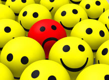 The red smiley Royalty Free Stock Photos
