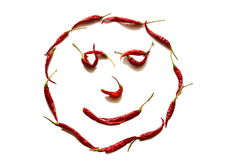 Red smiley face Royalty Free Stock Photos