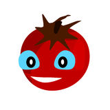 Red smilng tomato icon. Stock Images