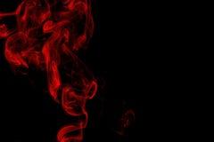 Red Smoke On Black Background Stock Photos