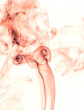 Red smoke. Stock Photography