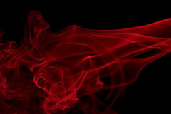 Red smoke detail Stock Images