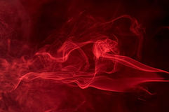 Red smoke detail Royalty Free Stock Images