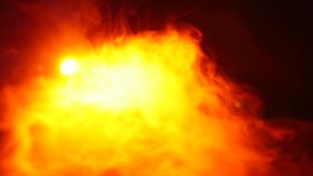 Red smoke flame on isolated black background.  stock video footage