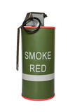Red smoke grenade m18 Royalty Free Stock Image
