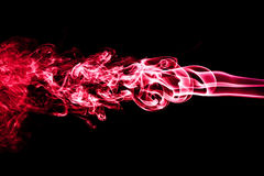 Red smoke isolated on black. Beautiful background Royalty Free Stock Photography